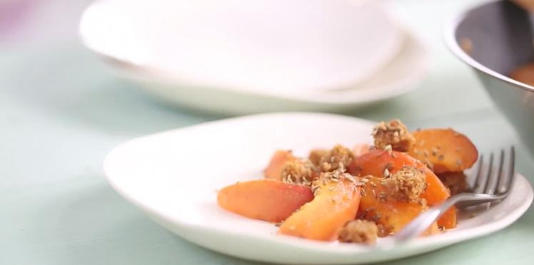 Poêlée d'abricots au pain d'épices et à l'anis