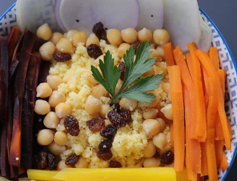 Couscous vegan sans gluten aux légumes anciens