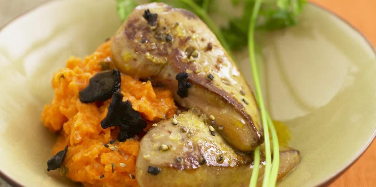 Escalope de foie gras et potimarron