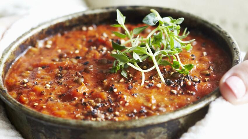 Recette Lentille Tomate Découvrez Les Recettes De Cuisine De Femme Actuelle Le Mag