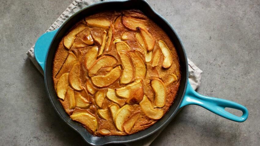 Clafoutis aux pommes à la farine de sarrasin