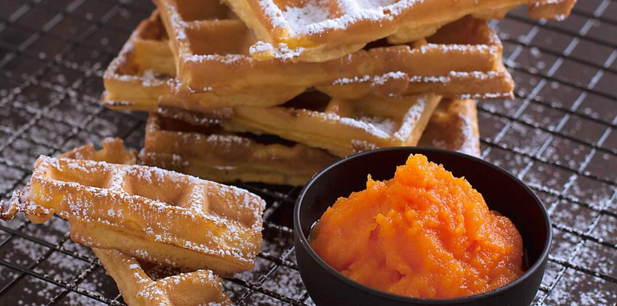 Gaufres de carottes, orange et safran