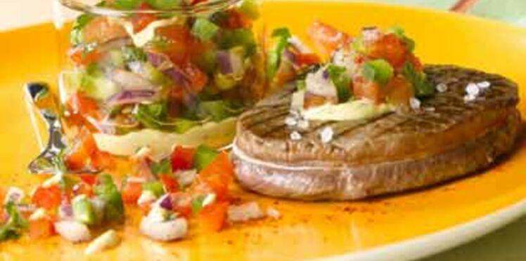 Steak aux poivrons