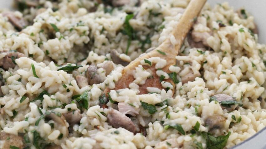 Risotto au poulet et champignons : découvrez les recettes ...