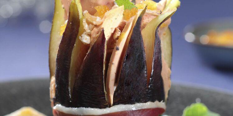 Foie gras en écrin de figue-fleur