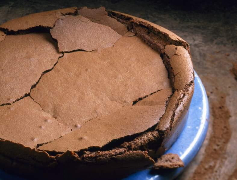 Gâteau avec du chocolat en poudre