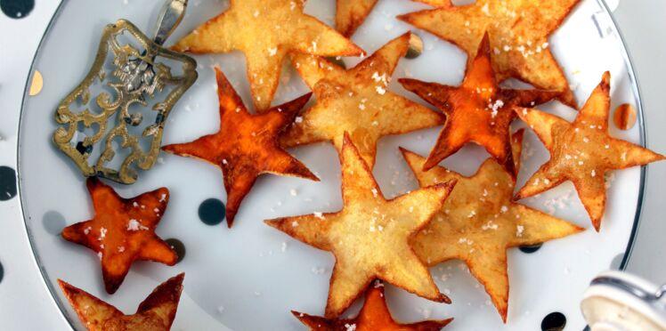 Garnitures de Noël : pomme de terre et patate douce en étoile