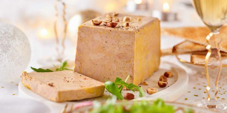 Terrine de foie gras, mesclun aux noisettes et crème de balsamique