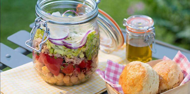 Salade en bocal aux pois chiches