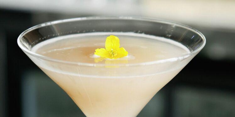 Cocktail litchi, gingembre et champagne