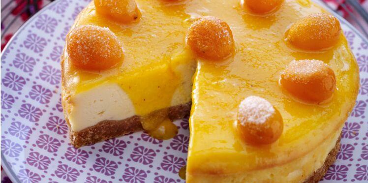 Cheese-cake au naturel, coulis de kumquats à peine confits