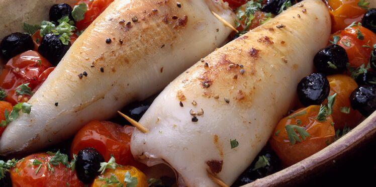 Calamars farcis aux olives