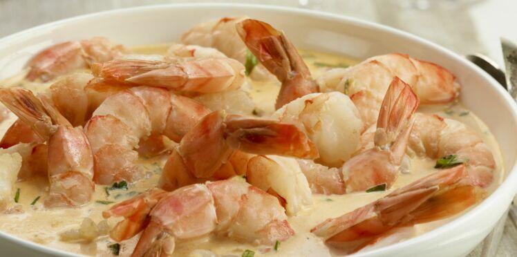 Crevettes à la crème