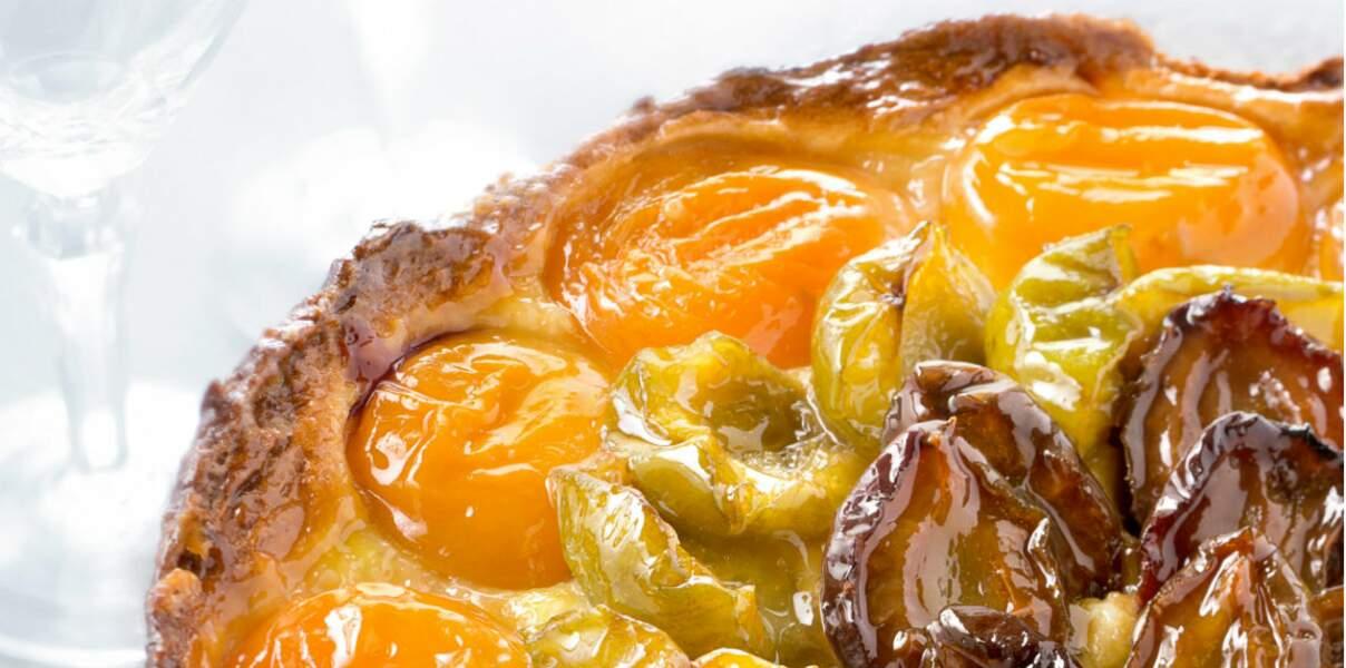 Tarte aux prunes et aux abricots