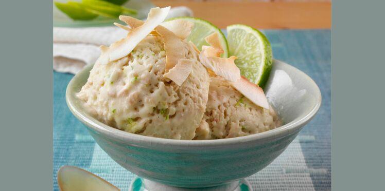 Glace coco au citron vert