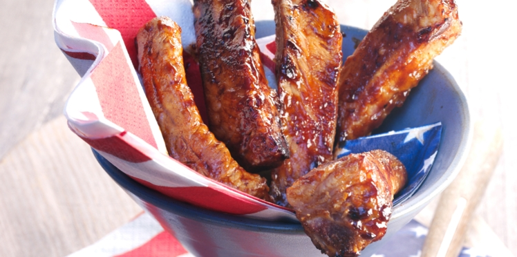 Travers de porc et sa sauce sucrée-salée