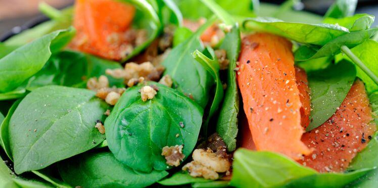 Saumon frais aux épinards