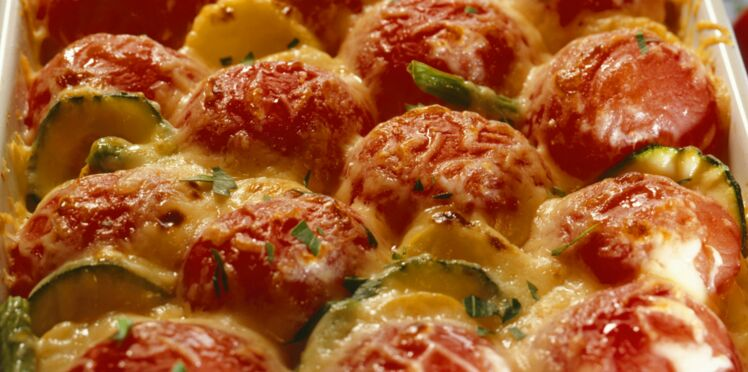 Gratin léger de pommes de terre et tomates