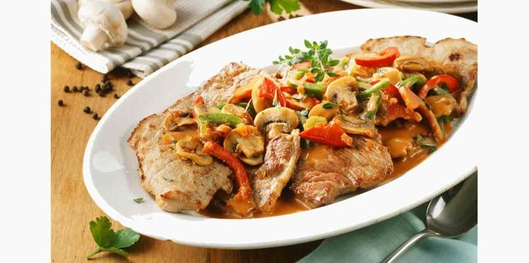 Escalopes de veau aux petits légumes