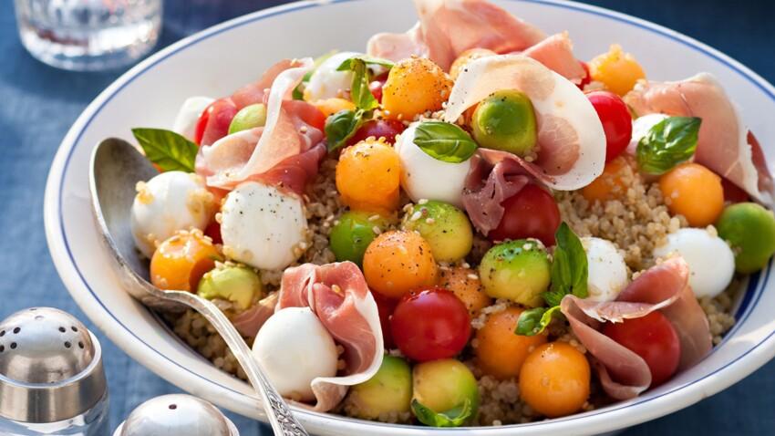 Salade de quinoa et graines de sésame