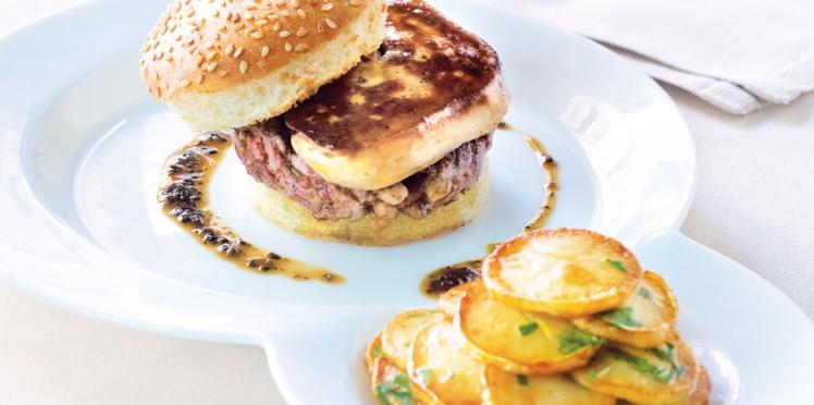 Le burger de foie gras de canard