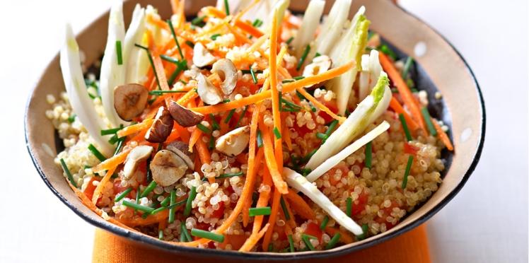 Taboulé de quinoa aux noisettes grillées