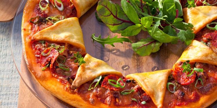 Pizza soleil au chorizo