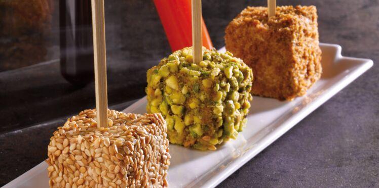 Bonbons de foie gras aux trois saveurs (Cyrille Zen, Top Chef)