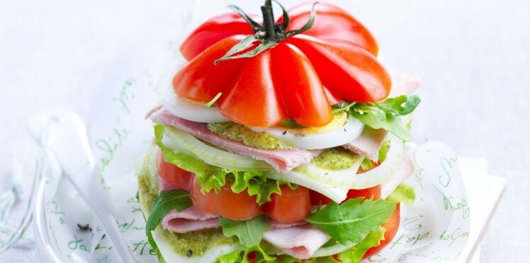 Millefeuilles tomate-mozzarella