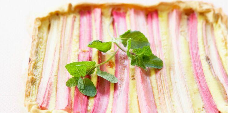 tarte flan à la rhubarbe