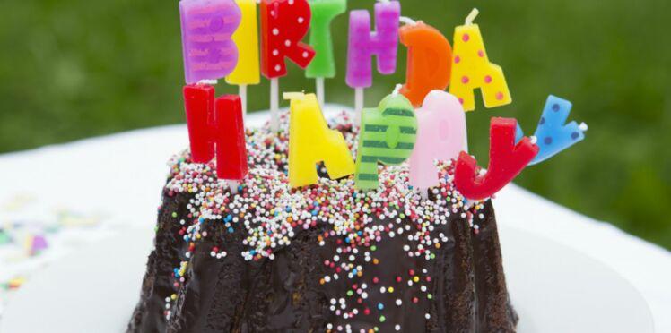 Gâteau d'anniversaire chocolat poires