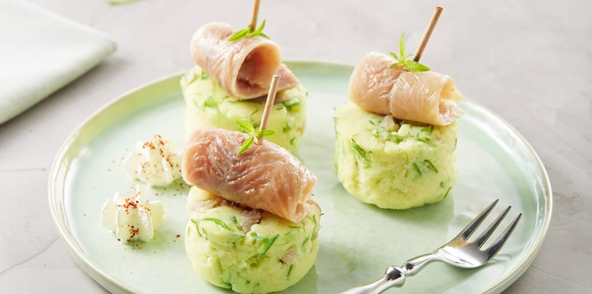 Purée de pommes de terre à l'anguille fumée