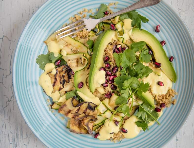 Salade de quinoa croustillant à la grenade