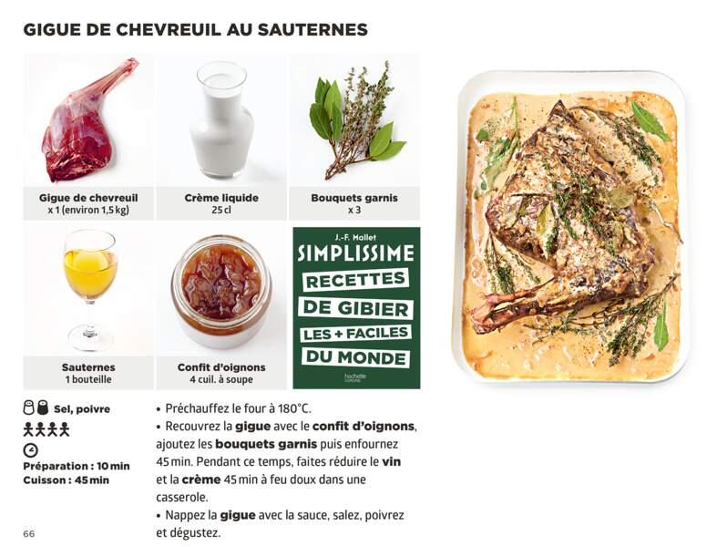 Gigue de chevreuil au Sauternes Simplissime