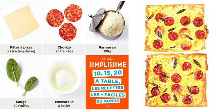 Pizza pimentée aux deux fromages Simplissime