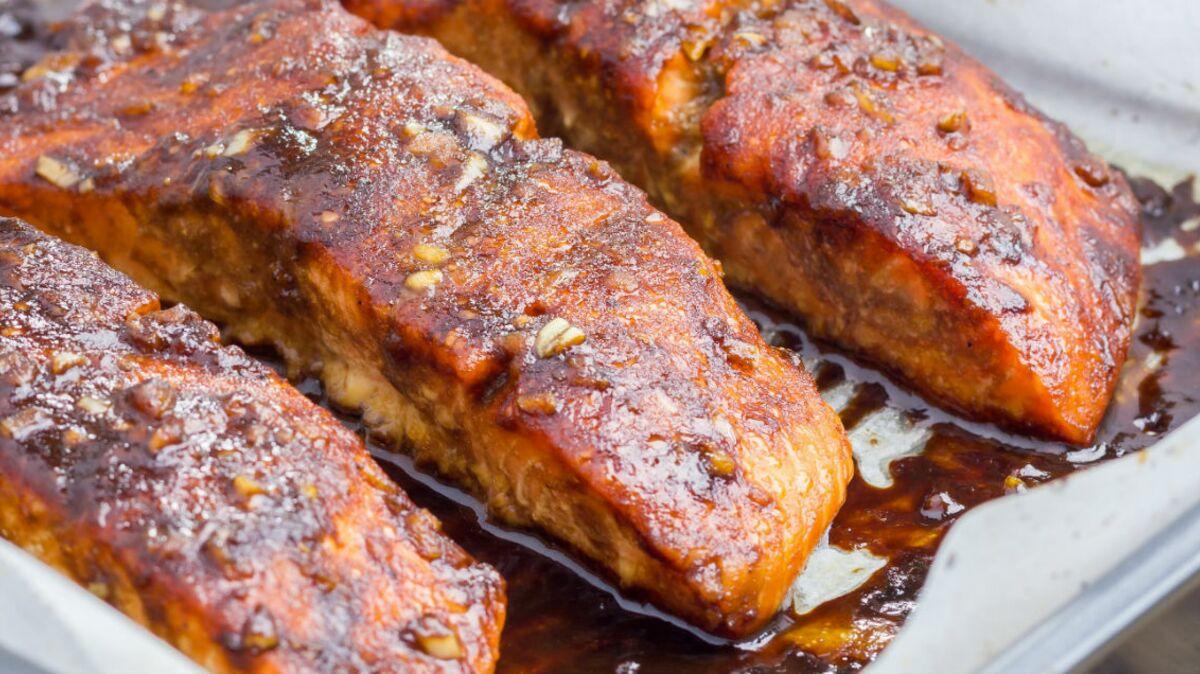 Pavés de saumon au miel et sésame