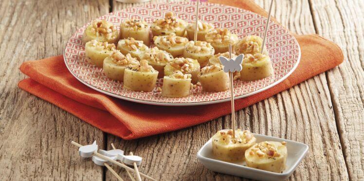Bouchées de rattes du Touquet aux cacahuètes croquantes