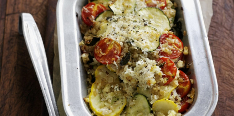 Gratin de courgettes et tomates à l'italienne