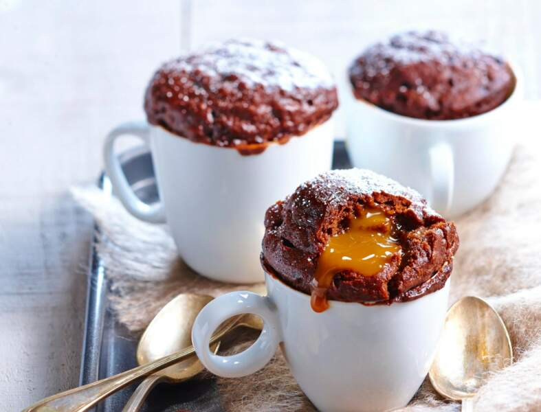 Mug cake choco-caramel