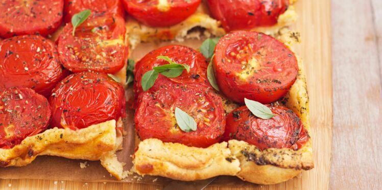 Tarte renversée à la tomate