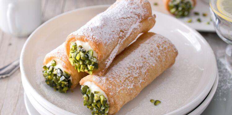 Cannoli siciliens aux pistaches et marsala