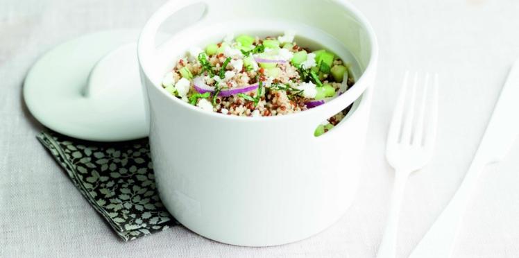 Taboulé de quinoa bicolore