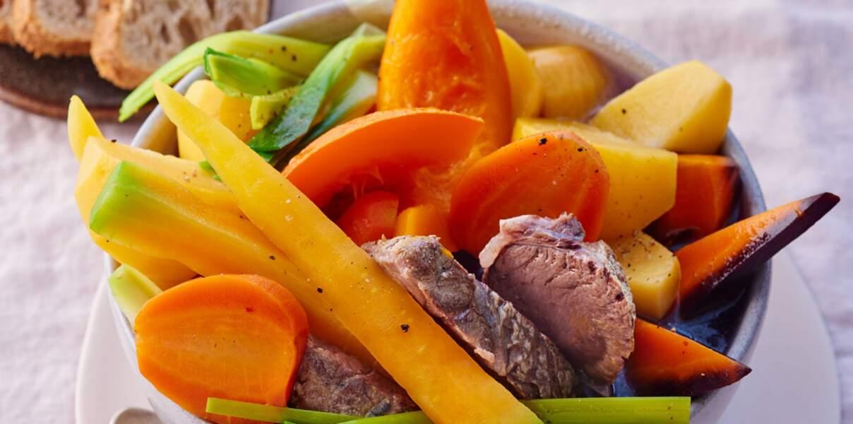 Pot-au-feu aux légumes anciens