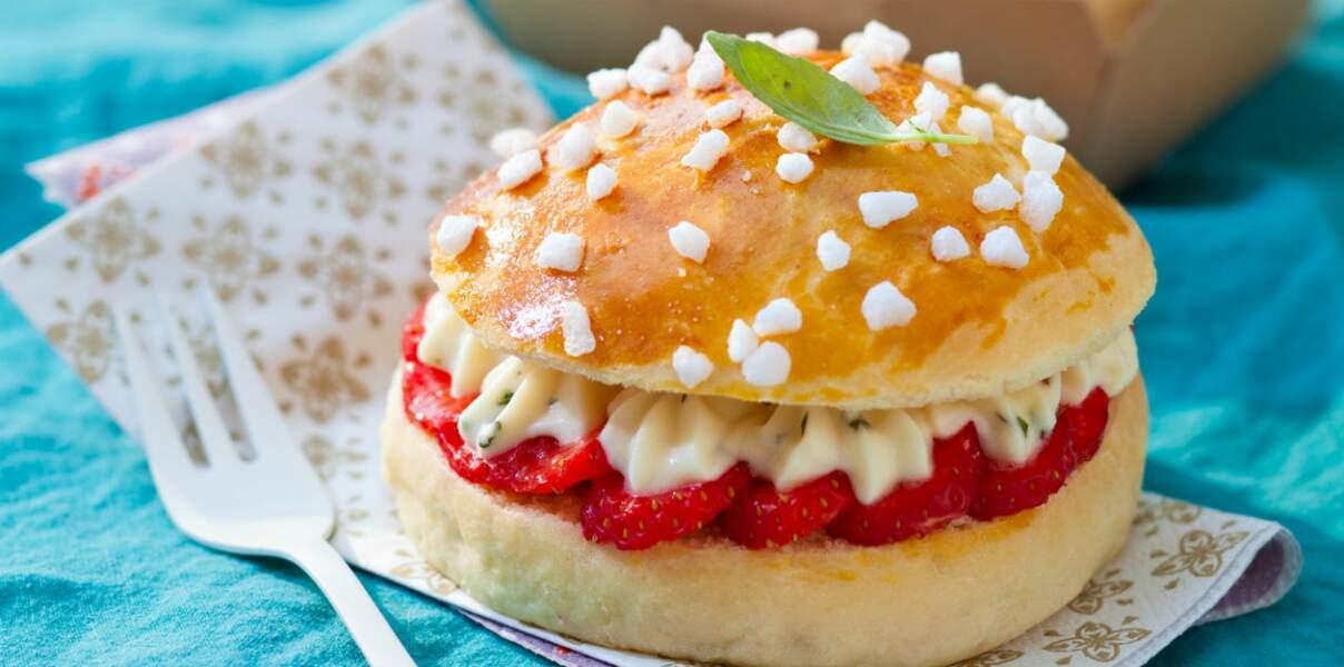 Briochettes aux fraises et basilic