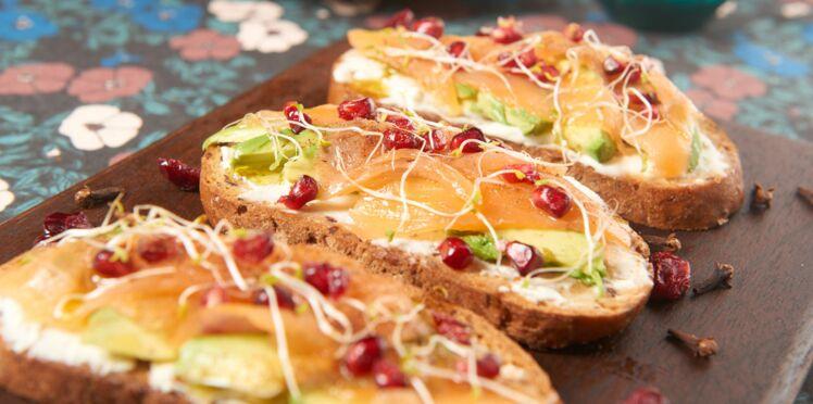 Avocado toasts aux saumon et épices douces