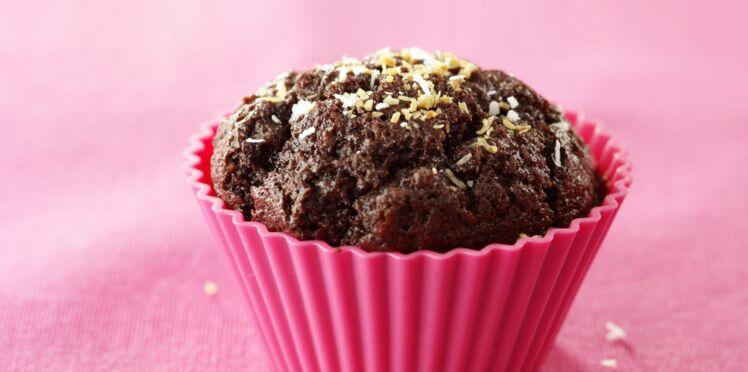 Muffins chocolat et noix de coco
