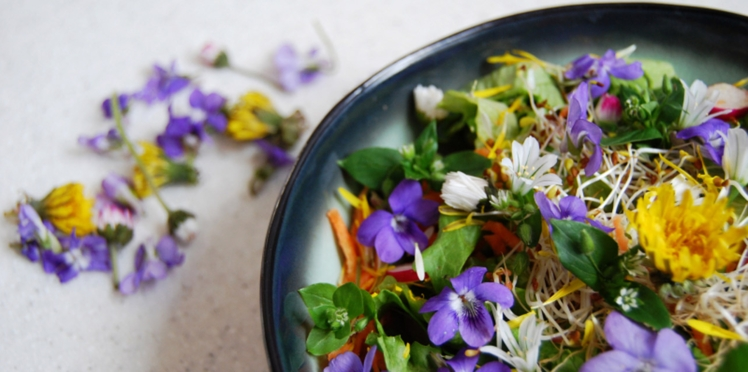 Salade de fleurs estivale