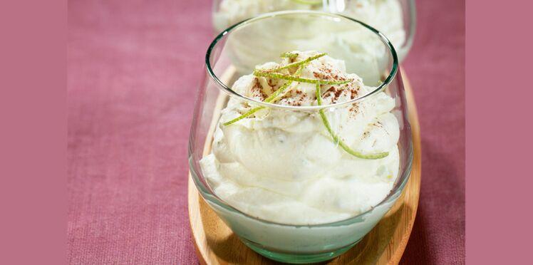 Mousse de chocolat blanc au citron vert
