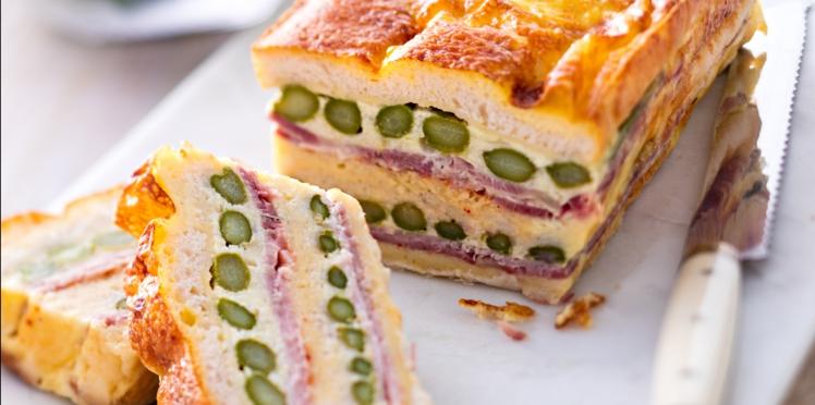 Croque cake aux asperges