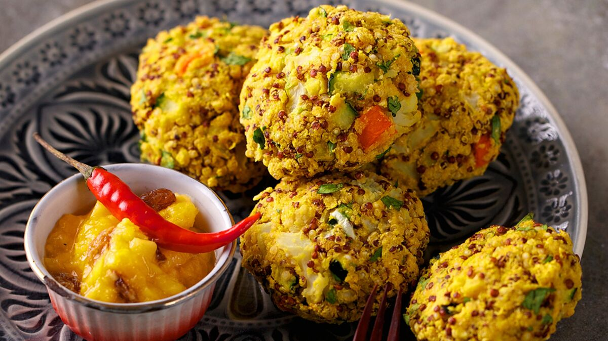 Boulettes de quinoa et légumes à l'indienne